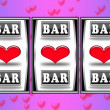 Royalty-Free Stock Photo: Valentine slot machine
