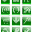 Foto Stock: Glossy buttons green