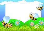 Včela scrapbook — Stock fotografie
