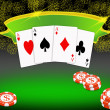 Poker background — Stock Photo #5511435