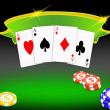 Poker background — Stock Photo #5511452