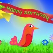 Happy birthday greeting card — Stock Photo #5512052