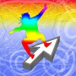 Web surfer — Stock Photo