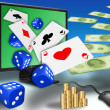 Online gambling — Stock Photo #5513531