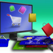 Foto Stock: Online shopping