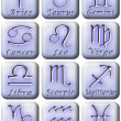 Zodiac button set — Stock Photo