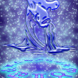 Royalty-Free Stock Photo: Aquarius zodiac sign