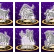 Stock Photo: Zodiac sign set