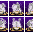 Постер, плакат: Zodiac sign set
