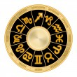 Stock Photo: Zodiac wheel