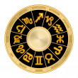 Zodiac wheel — Stock Photo