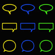Icon chat neon style — Stock Photo #5516890