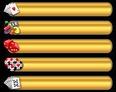 Casino banner set — Stock Photo