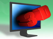 3D digital TV — Stock Photo