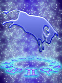 Taurus zodiac sign — Stock Photo