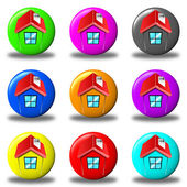 House button set round — Stock Photo