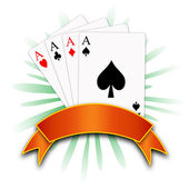 Poker aces — Stock Photo