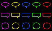 Icon chat neon style — Stock Photo