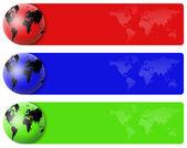 World banner set — Stock Photo