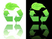 Symbols of ecology and recycling — Stock Photo