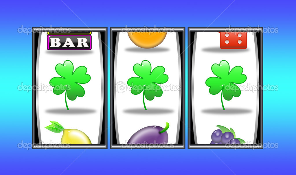 Aligned symbols and win in slot machine — Stock Photo #5519417