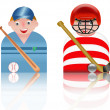 Stock Photo: Icon sport basebal and hockey