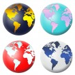 Globe icon set — Stock Photo