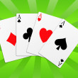 Poker aces — Stock Photo #5522383
