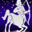 Sagittarius zodiac sign — Stock Photo