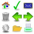 Icon set 3d — Stock Photo