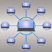 Social network — Foto Stock