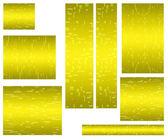 Web banner standard size yellow — Stock Photo