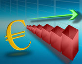 Stiga i euron — Stockfoto