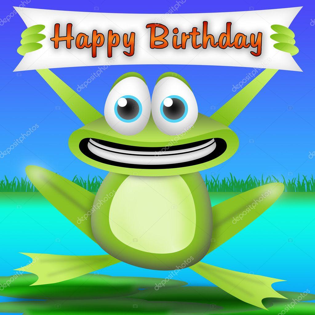 Happy Birthday Frog Debbie Cake