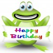 Frog happy birthday — Stock Photo #5572103