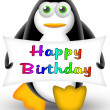 Penguin happy birthday - Stock Photo