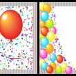 Happy birthday greeting card front and back — Stock Photo #5592516