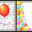 Happy birthday greeting card front and back - Stock Photo