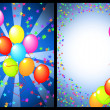 Happy birthday greeting card front and back — Stock Photo #5592529