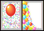 Happy birthday greeting card front and back — Stock Photo