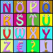 Cartoon alphabet — Stock Photo