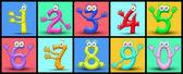 Cartoon numbers — Stock Photo