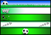Soccer banner set — Stock Photo