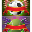 Soccer and tennis banner - Stock Photo