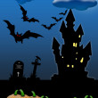 Halloween invitation card - Stock Photo