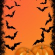 Halloween invitation card — Stock Photo