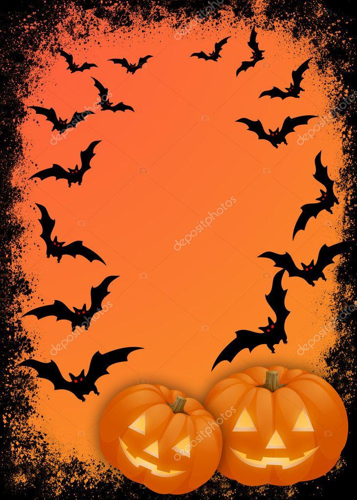 Tarjeta de invitación de Halloween — Foto de Stock ...