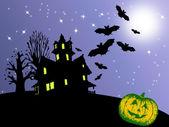 Halloween uitnodigingskaart — Stockfoto