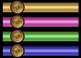 Roulette banner set — Stock Photo