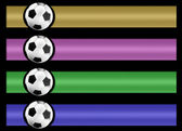 Soccer banner set — Stock Photo